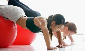 telovadba z žogo