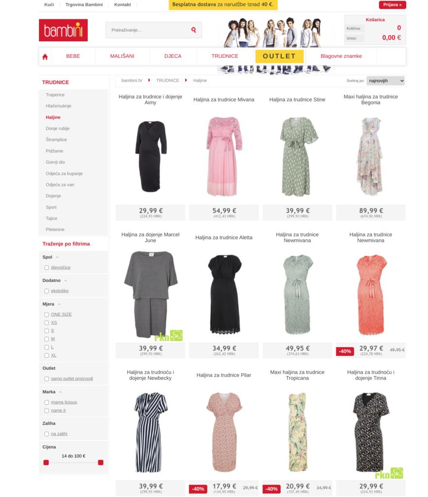 search intent haljine za trudnice