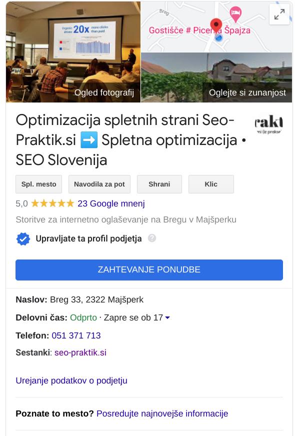 google my business seo praktik
